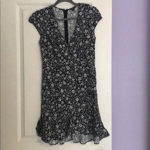 Jcrew floral v-neck dress